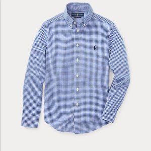 Ralph Lauren Blue/white Gingham Shirt